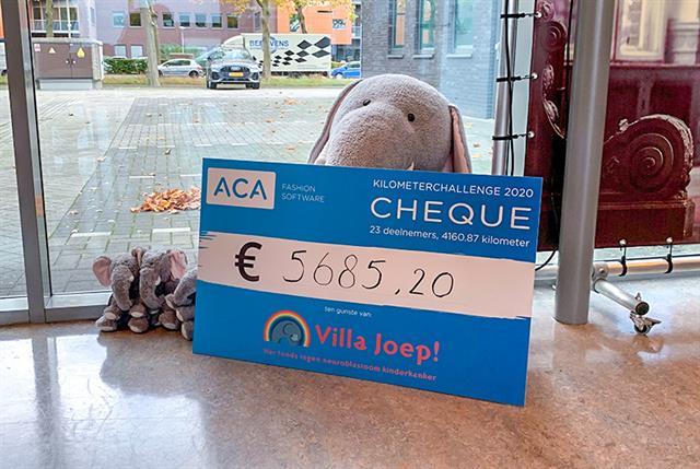 ACA Fashion Software haalt €5685,20 op voor Stichting Villa Joep