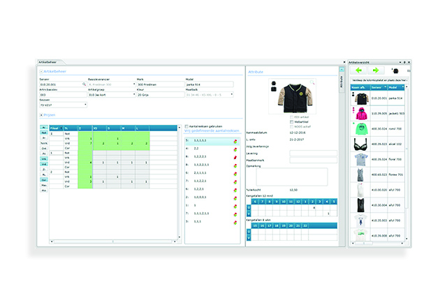 ACA Fashion Software - Winstore - Artikelbeheer